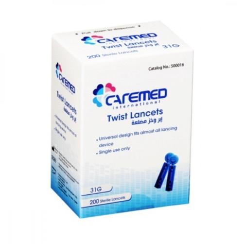 CAREMED 200 TWIST LANCETS 31G