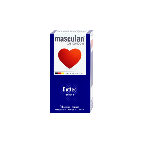 MASCULAN CONDOM 10PSC DOTTED