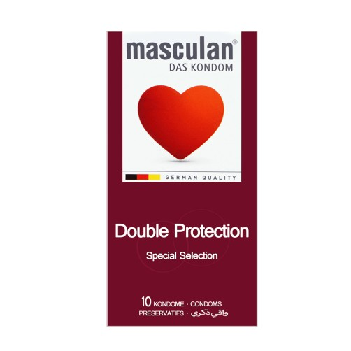 MASCULAN CONDOM 10P DOUBLE PROTECTION