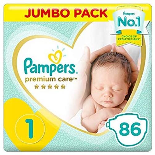 PAMPERS NO 1 NEWBORN PREMIUM CARE 86