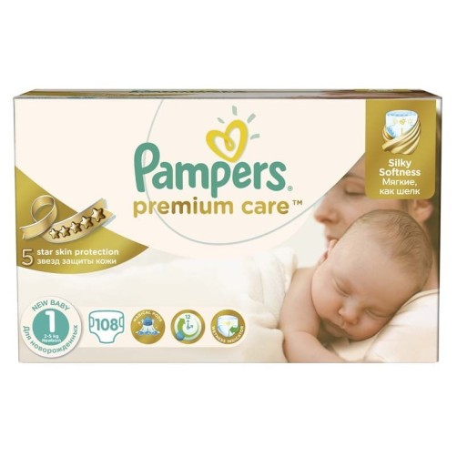 PAMPERS NO 1 PREMIUM CARE 108