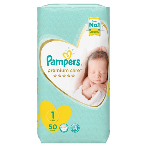 PAMPERS NO 1 PREMIUM CARE 50