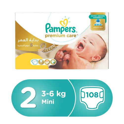 PAMPERS NO 2 PREMIUM CARE 108