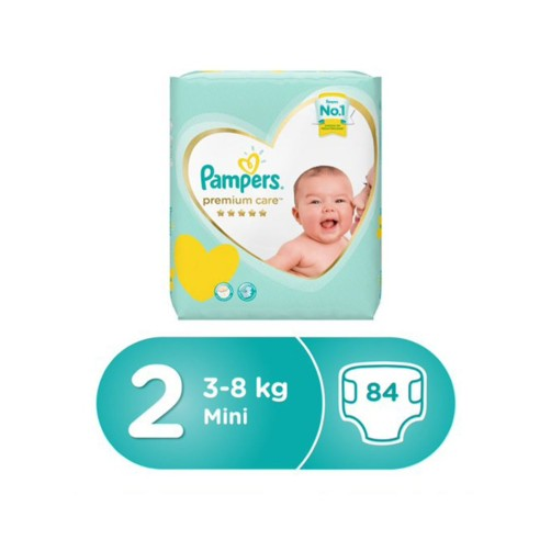 PAMPERS NO 2 PREMIUM CARE 84