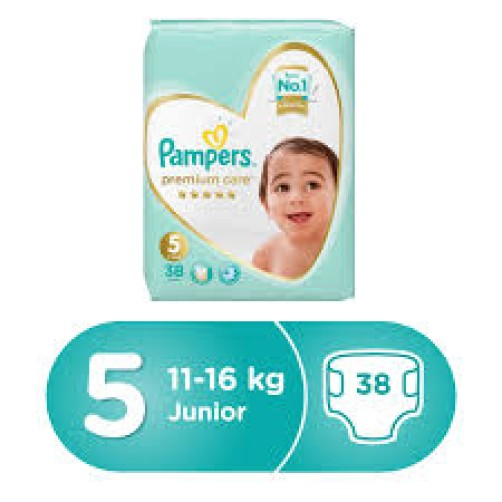 PAMPERS NO 5 PREMIUM CARE 38